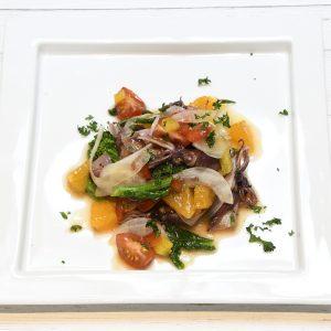 ホタルイカと旬野菜のマリネ