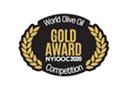 ニューヨーク国際オリーブオイルコンテスト2020年度金賞受賞ロゴ