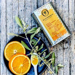 NEW!オーガニック(BIO)オレンジのフレーバーオイルが入荷。サラダやデザートと合わせるのがおすすめ