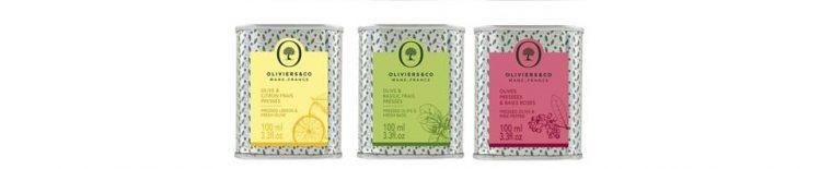 アロマティックオイル3種 左からレモン、バジル、ピンクペッパー。