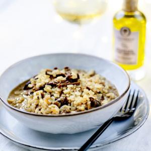 乾燥ポルチーニ茸のリゾット―オリーブオイルで作る本格レシピ。お店の味をご家庭で