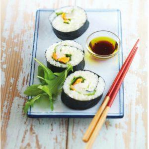 ホタテ貝の巻き寿司-和食×オリーブオイルの組み合わせ